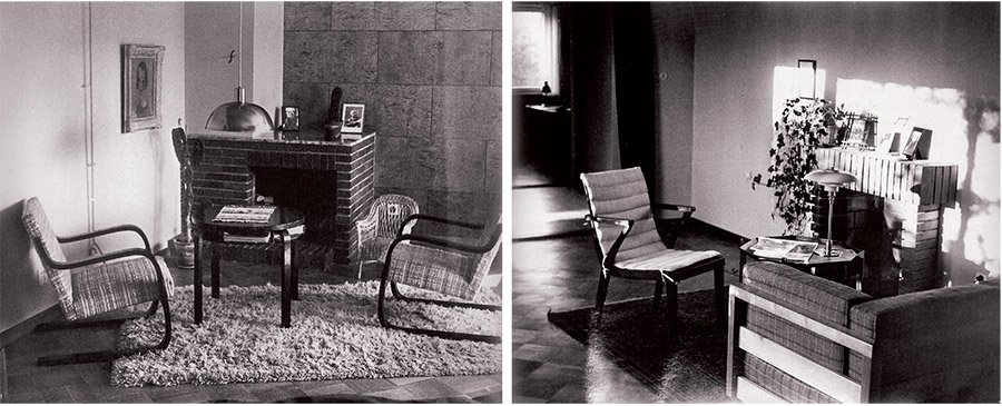 1. Istabas interjers. Kajs un Dags Englundi. 1936 un 2. Viesistabas interjers. Kajs un Dags Englundi. 1936